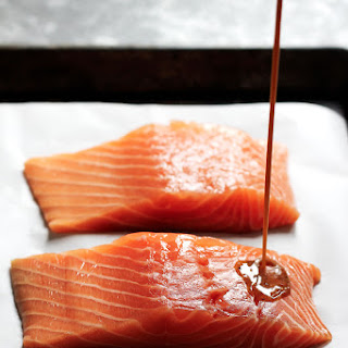 Spicy Maple Glazed Salmon for Two!.