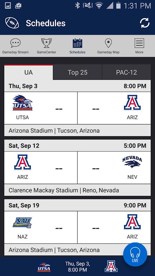 Arizona Wildcats Gameday- screenshot