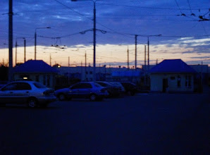 Photo: Kiev sunset through the trolley-bus wires June 18 at 2144hrs