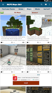 Maps for MCPE: Texture Packs, Mods, Skins - náhled