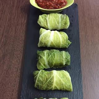 Chicken Napa Cabbage Dumplings.