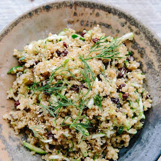 Lemon Quinoa with Currants, Dill, and Zucchini.