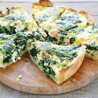 Spinach and Swiss Quiche.