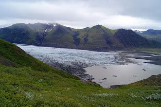 Photo: Czoło lodowca Skaftafelljökull, Vatnajokull
