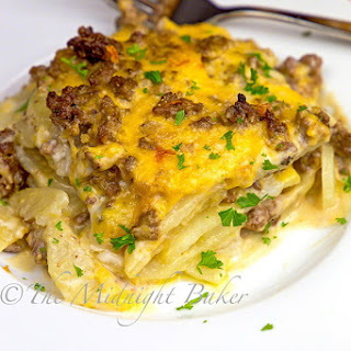 Cheesy Beef & Potatoes Casserole