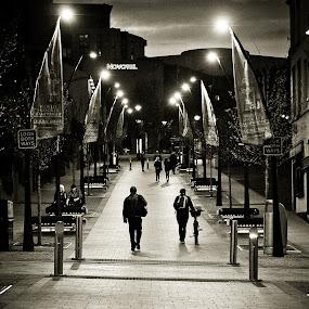 Sheffield at Night by Bryn Graves - City,  Street & Park  Neighborhoods ( sheffield, fine art, street photography,  )