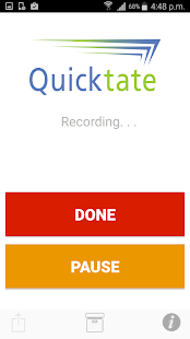 Quicktate.com- screenshot thumbnail