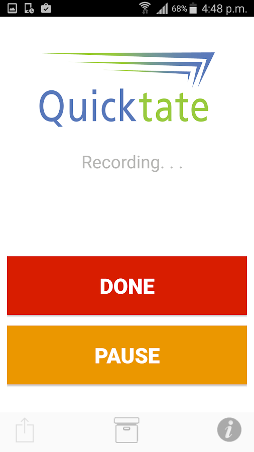 Quicktate.com- screenshot