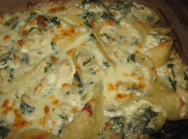 Chicken-spinach Stuffed Shells Recipe