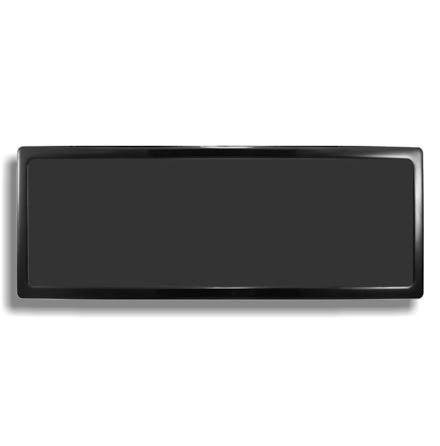 DEMCiflex magnetisk filter 3x180 mm, rektangulær, sort