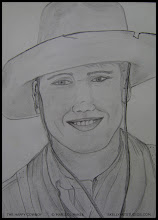 Photo: The Happy Cowboy. (not for sale) 8 in x 10 ¾ in. Graphite on 80# acid free paper. Created back when I was 17 years old. ©Marisol McKee.