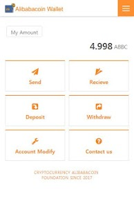 AlibabaCoin Wallet - náhled