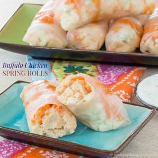 Buffalo Chicken Spring Rolls