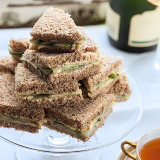 Cucumber, Hummus, and Lemon Tea Sandwiches
