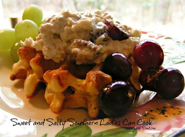 Open Faced Birdie & Parsnips Grape Salad Recipe