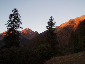 Photo: Sunset from the campsite - we camped a little beyond Sartoli.