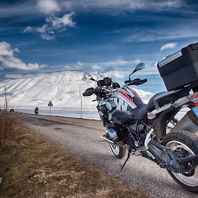 Castelluccio di Norcia by Mauro Rotisciani - Transportation Motorcycles ( sky, street, snow, neve, motorcycle, bmw, norcia )