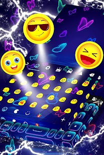 Klávesnice Neon Butterfly Téma - náhled