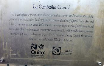 Photo: La Compania Church