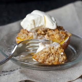 Almond-Crisped Peaches.