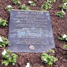 Photo: Benito Juarez marker