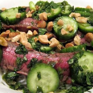Vietnamese Steak with Cucumber Salad