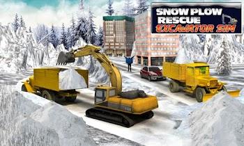 Winter Snow Rescue Excavator - screenshot thumbnail 07