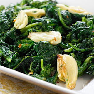 Roasted Broccoli Rabe with Garlic.