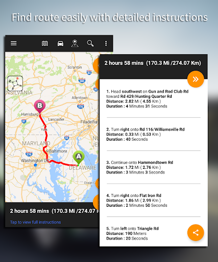 Driving Route Finderu2122 - Find GPS Location & Routes 2.4.0.3 screenshots 8