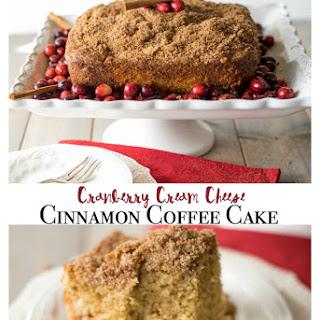 Cranberry Cream Cheese Cinnamon Coffee Cake