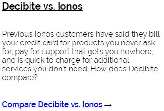 Decibite vs Ionos