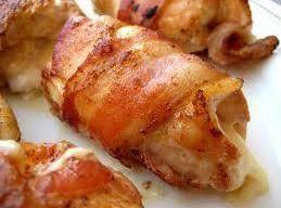 Stuffed Cream Cheese Chicken Wrapped In Bacon