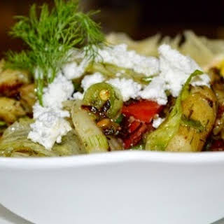 Grilled Baby Potato and Dill Salad.