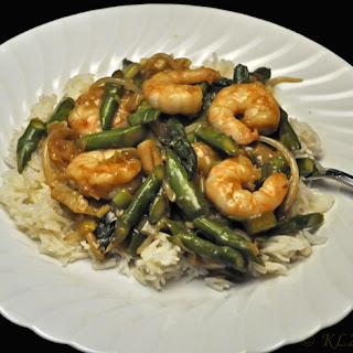 Stir-fried Shrimp with Asparagus and Green Garlic
