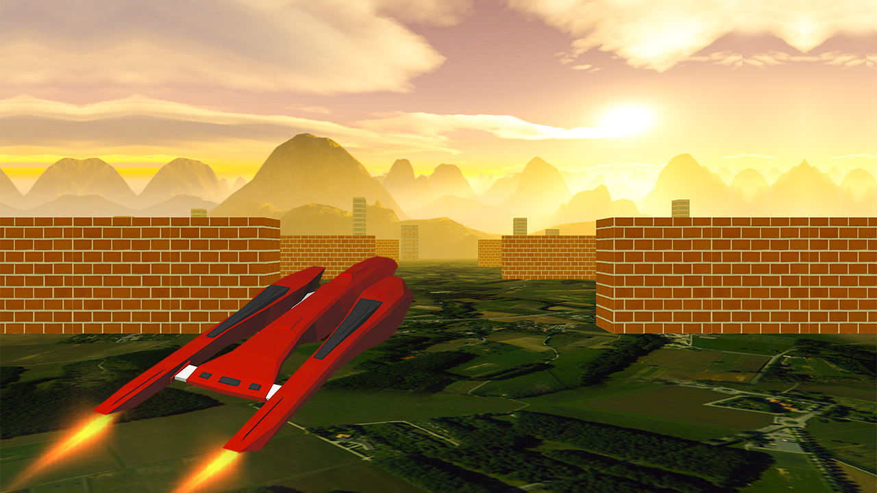 VR Flying jet Racer Challenge- screenshot