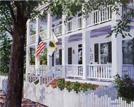 Photo: Chadwick House on Ann Street - Warshaw painting