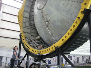 """Photo: Instrument units in the third stage, which housed the """"brains"""" of the Saturn V.  Internal IBM computers steered the rocket motors, ensuring the space craft entered the correct orbit.  In case of breakdown, each computer had three identical """"sisters"""" that could take over."""