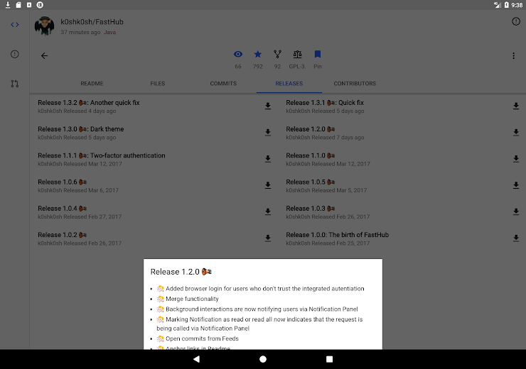 Screenshot 21 for Github's Android app'