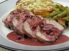 Roast Loin Of Pork With Lingonberry Sauce Recipe