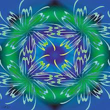 "Photo: Spiritual Series: God (2001)  Digital Print/ Mixed Media  الله بالخط الديواني  ""Allah""  ""God in Arabic""  Arabic Calligraphic Composition (Diwani Style)"