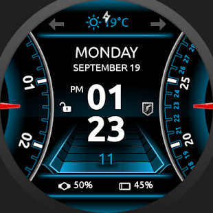 SmartDrive Watch Face Screenshot