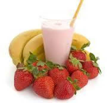 strawberry banana smoothie (tastes like a shake)