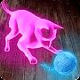 Neon Cat Tom Hologram