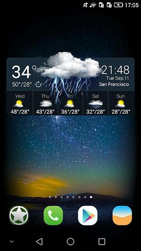 Weather & Clock Widget - Astro screenshot