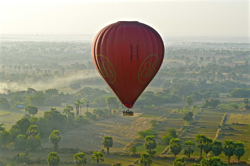 Myanmar-lush-landscape - The sight of seeing balloons drift over the ancient capital city of Bagan was an amazing experience.