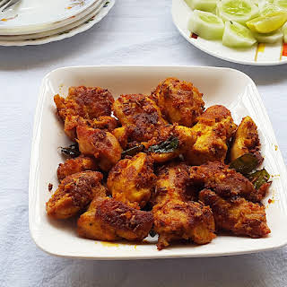 Chicken 65 recipe - The famous Indian spicy deep fried chicken 65.