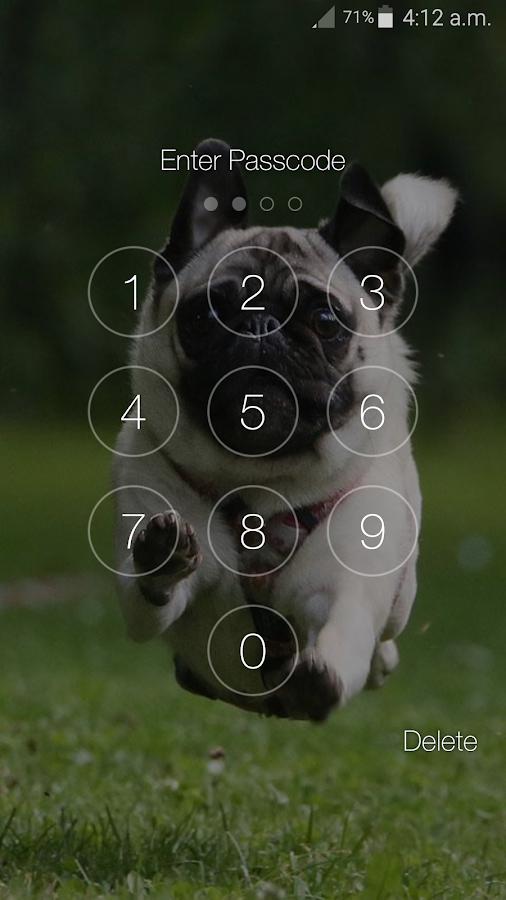 Screenshots of Puppy Dog Pin Lock Screen for iPhone