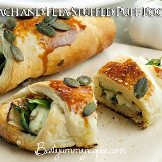 Spinach and Feta Stuffed Puff Pockets