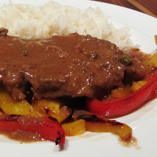 Slow Cooked Pork in Peanut Sauce.