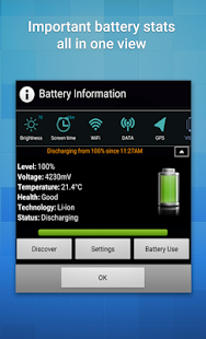 Battery Widget+ (% Indicator)- screenshot thumbnail